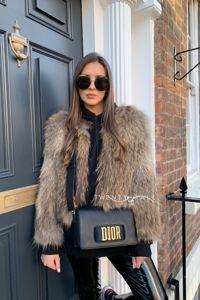 Knitted Raccoon Fur Coat