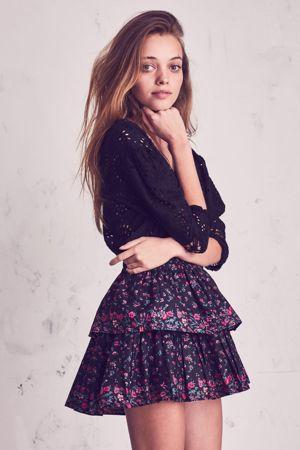 LOVESHACKFANCY Secret Garden Ruffle Mini Skirt