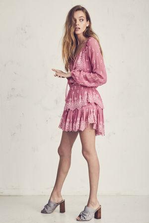 LOVESHACKFANCY Tea Rose Popover Dress