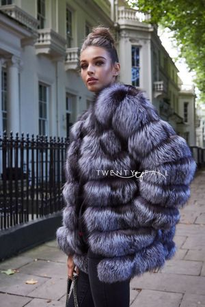 Silver Fox Fur 7 Ring Coat