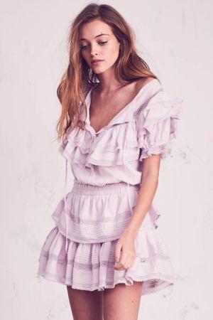 LOVESHACKFANCY Liv Dress Lavender
