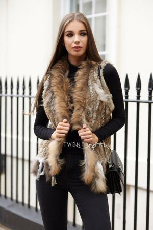 Natural Knitted Fur Gilet