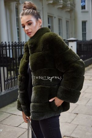 Faux Fur Lola Green Coat
