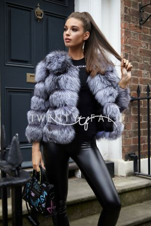 Silver Fox Fur 5 Ring Fox Coat