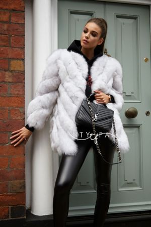 Natural Fox Fur Twist Coat