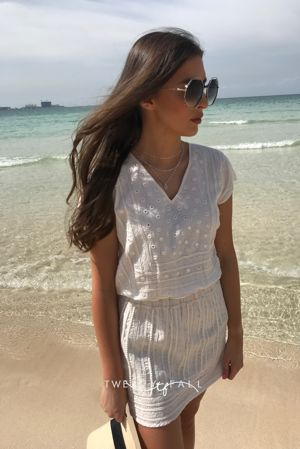Beach Embroided Dress