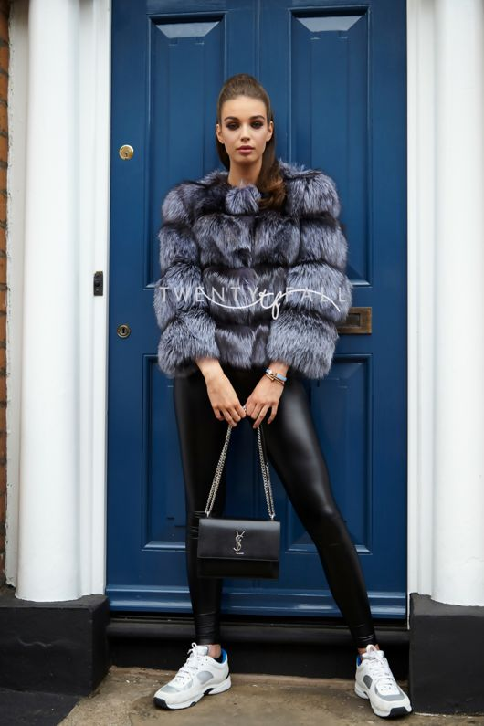 Bella Silver Fox Fur Coat