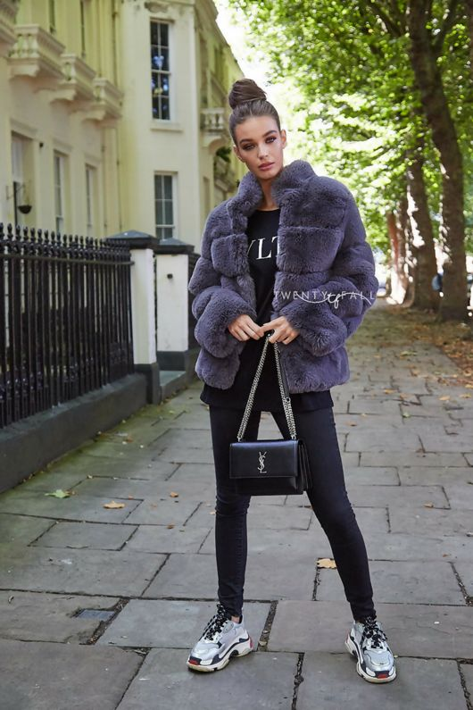 Faux Fur Lola Grey Coat