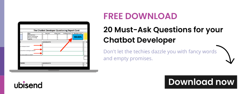20 must ask questions for your chatbot developer