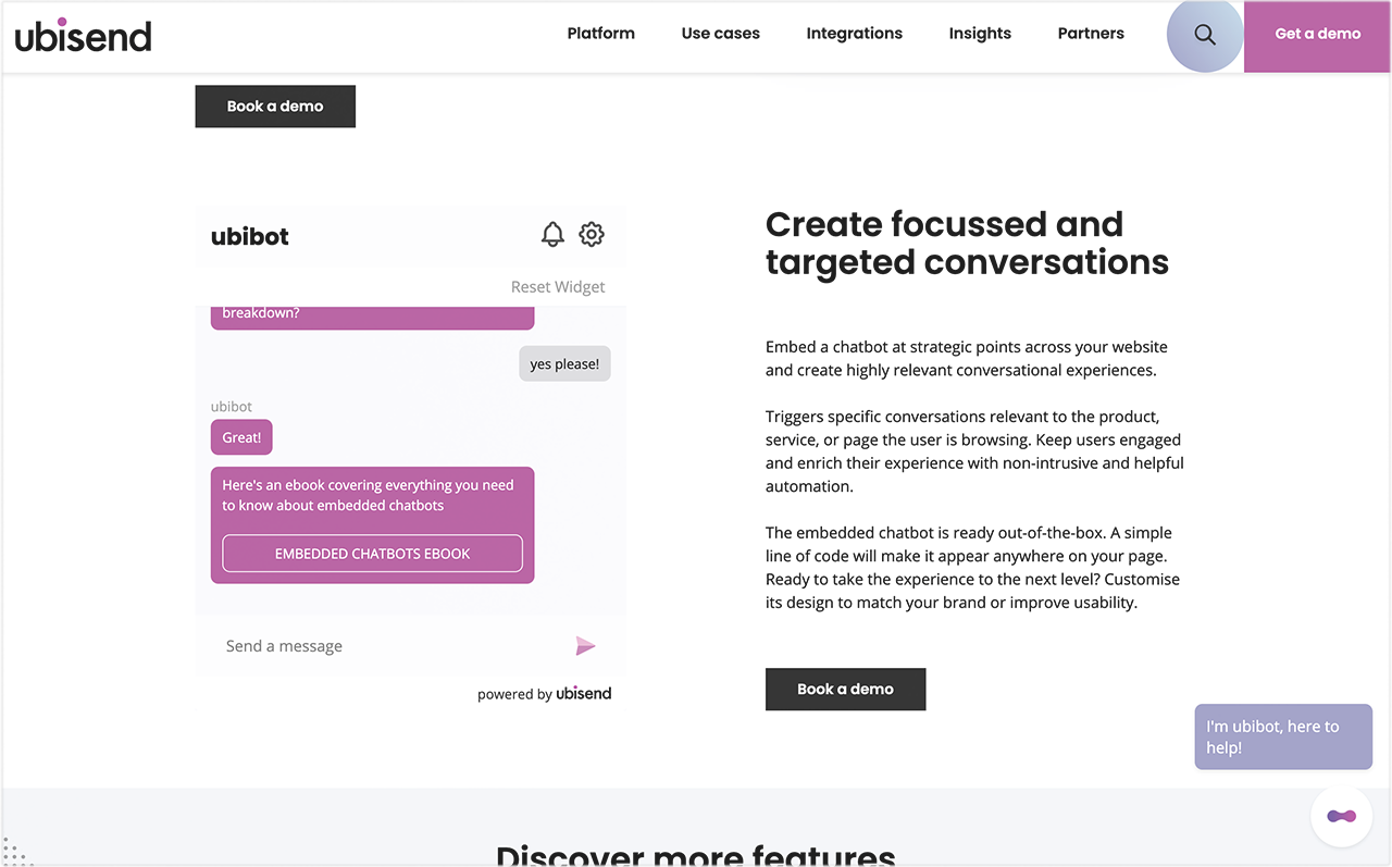 Create focussed and targeted conversations