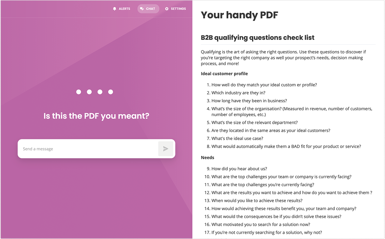 Turn PDFs into conversations