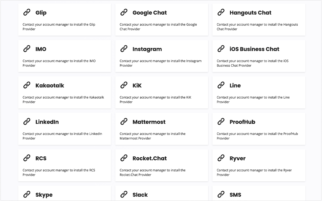 Automate interactions on 30+ messaging applications