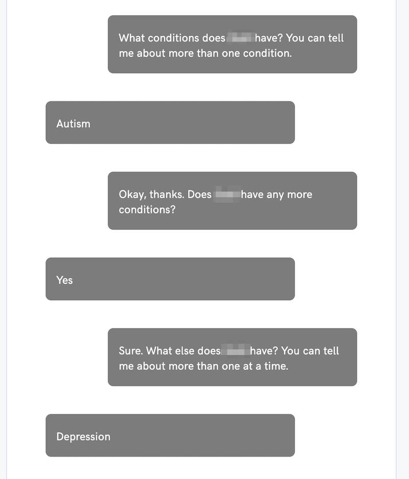 agylia chatbot conversation sample