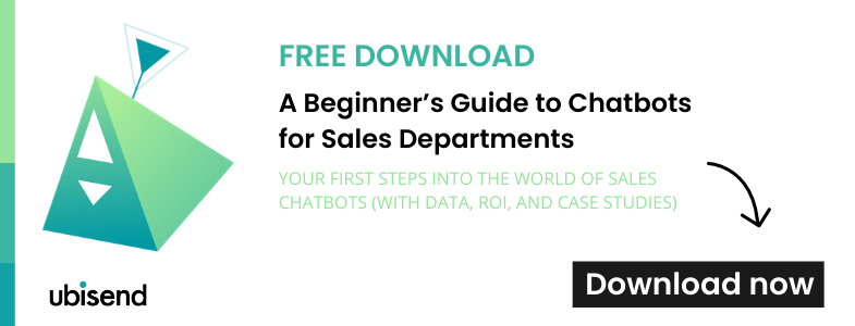 download free beginner guide on sales chatbots