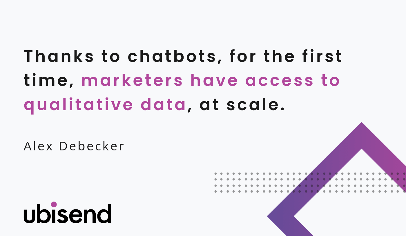 chatbots qualitative data for marketing