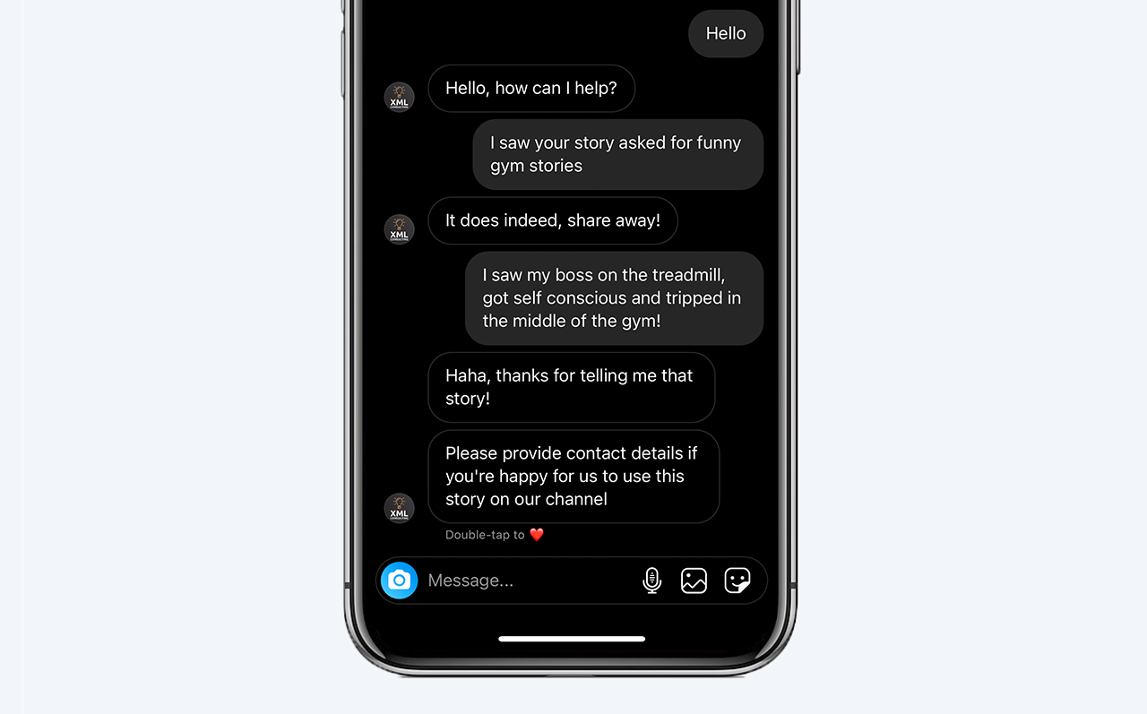 Instagram chatbot increases story engagement