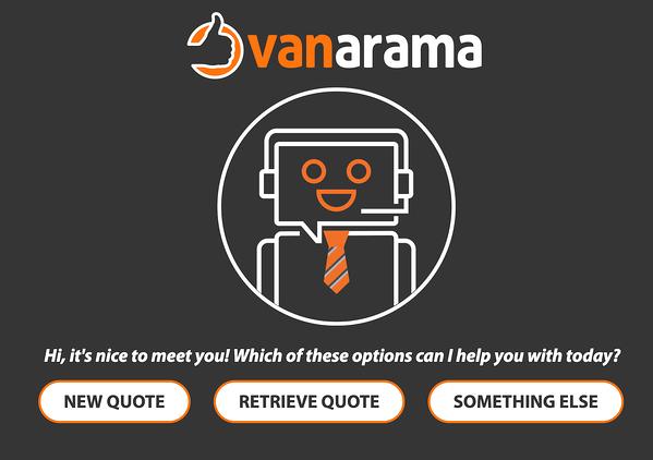 vanarama chatbot full page