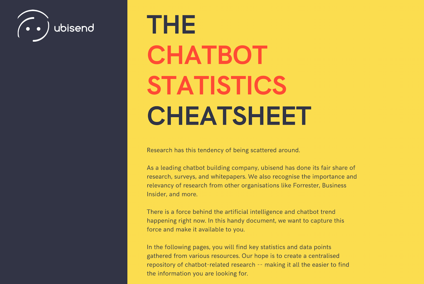 The 2019 Chatbot Statistics Cheatsheet