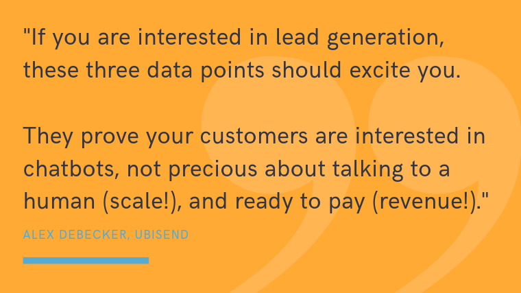chatbots for lead generation exciting stats