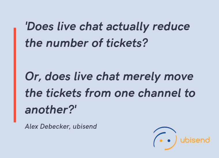 chatbots vs live chat channels