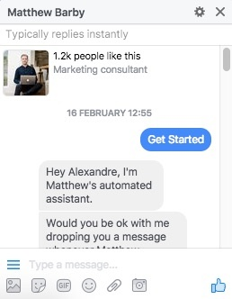 chatbot onboarding matthew barby