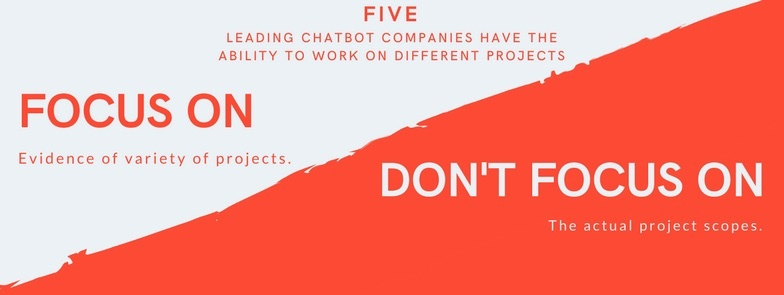5 leading chatbot companies different projects