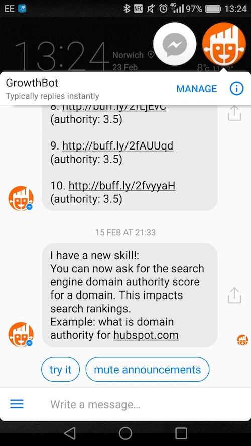 chatbot retention growth bot engaging