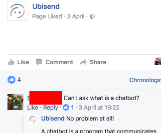 fb what is a chatbot