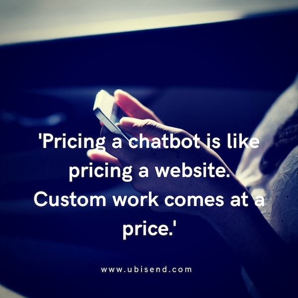 chatbot pricing like website