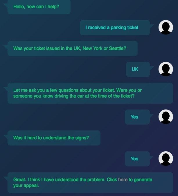 chatbot lawyer conversational ux