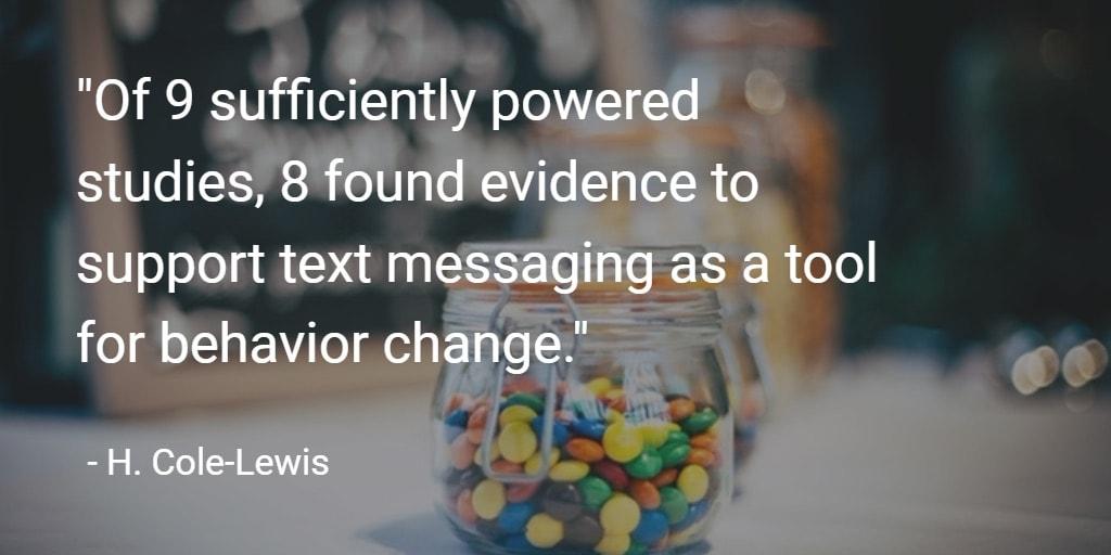 text messaging behavior change