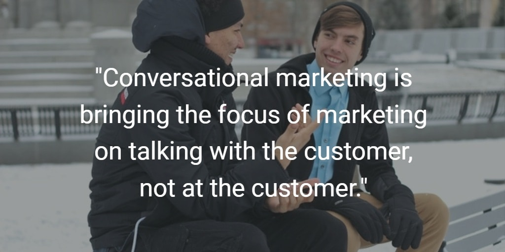 The conversational marketing definition