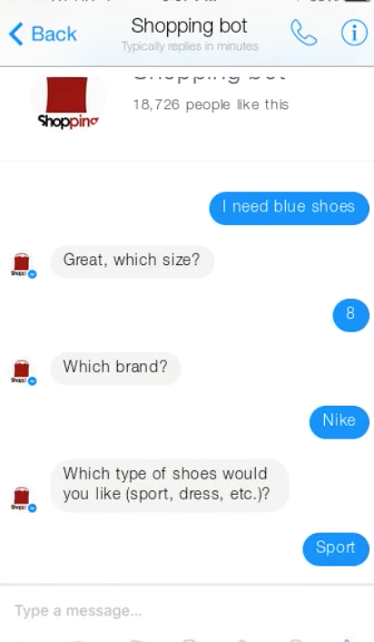conversational ux chatbot example input