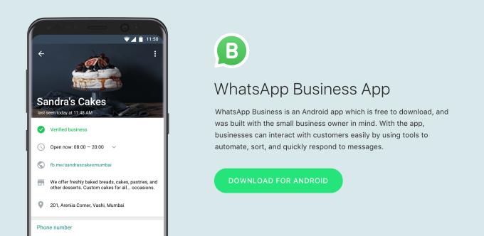 whatsapp business account techcrunch
