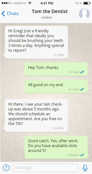 conversational marketing dentist
