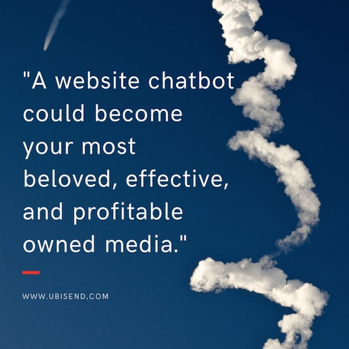 website chatbot profitable asset