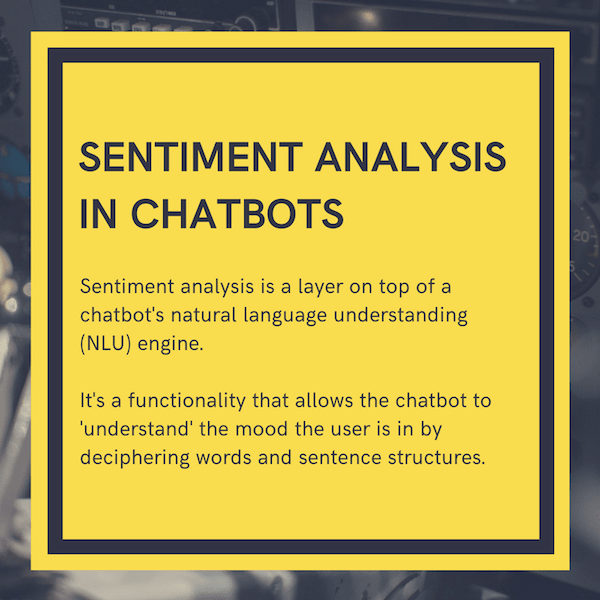 sentiment analysis chatbot definition