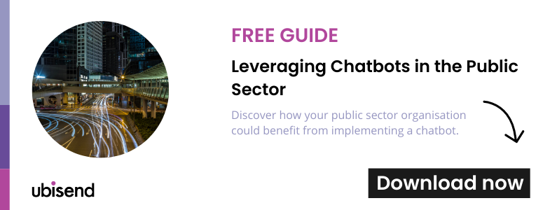 guide to chatbots in public sector