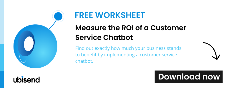 measure the ROI of a customer service chatbot worksheet