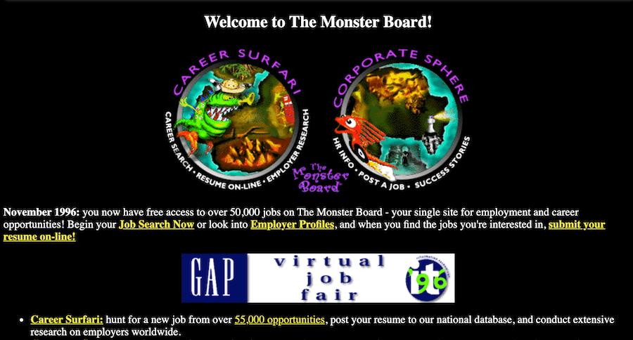 monster.com first website