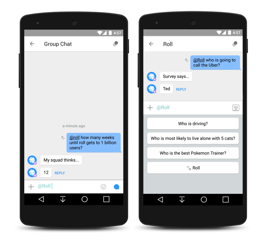 roll group chatbot