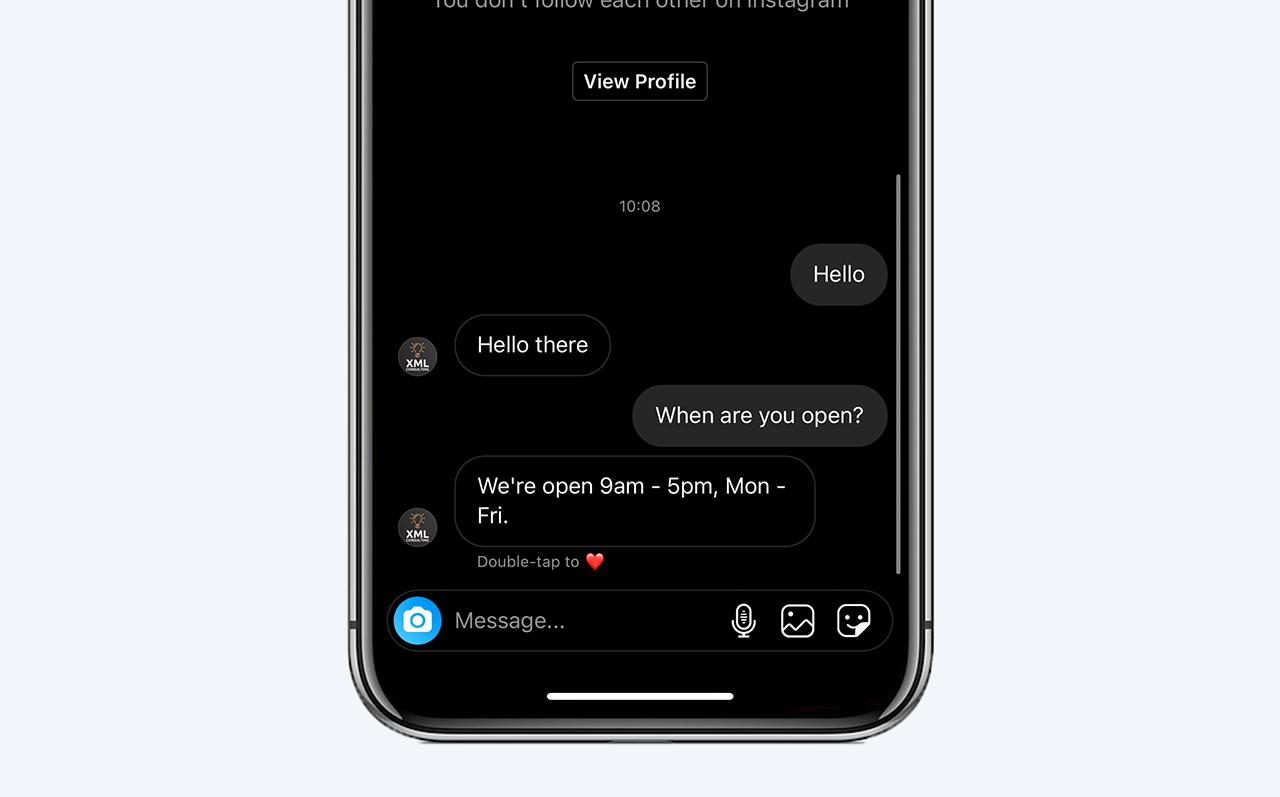Instagram chatbot FAQs