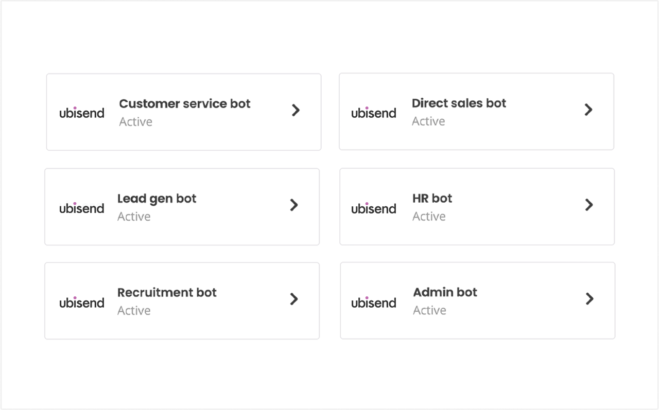 ubisend scale conversational workflow automation across business