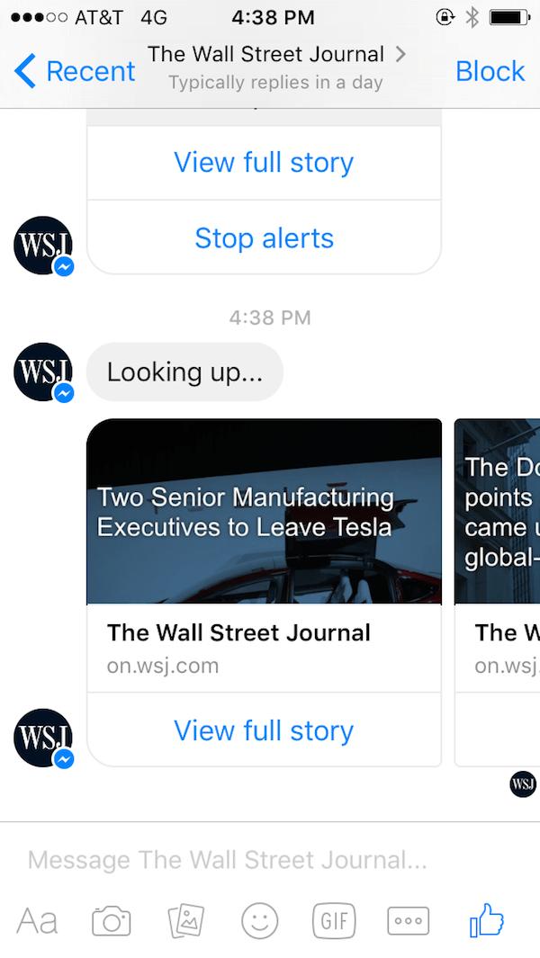 WSJ chatbot