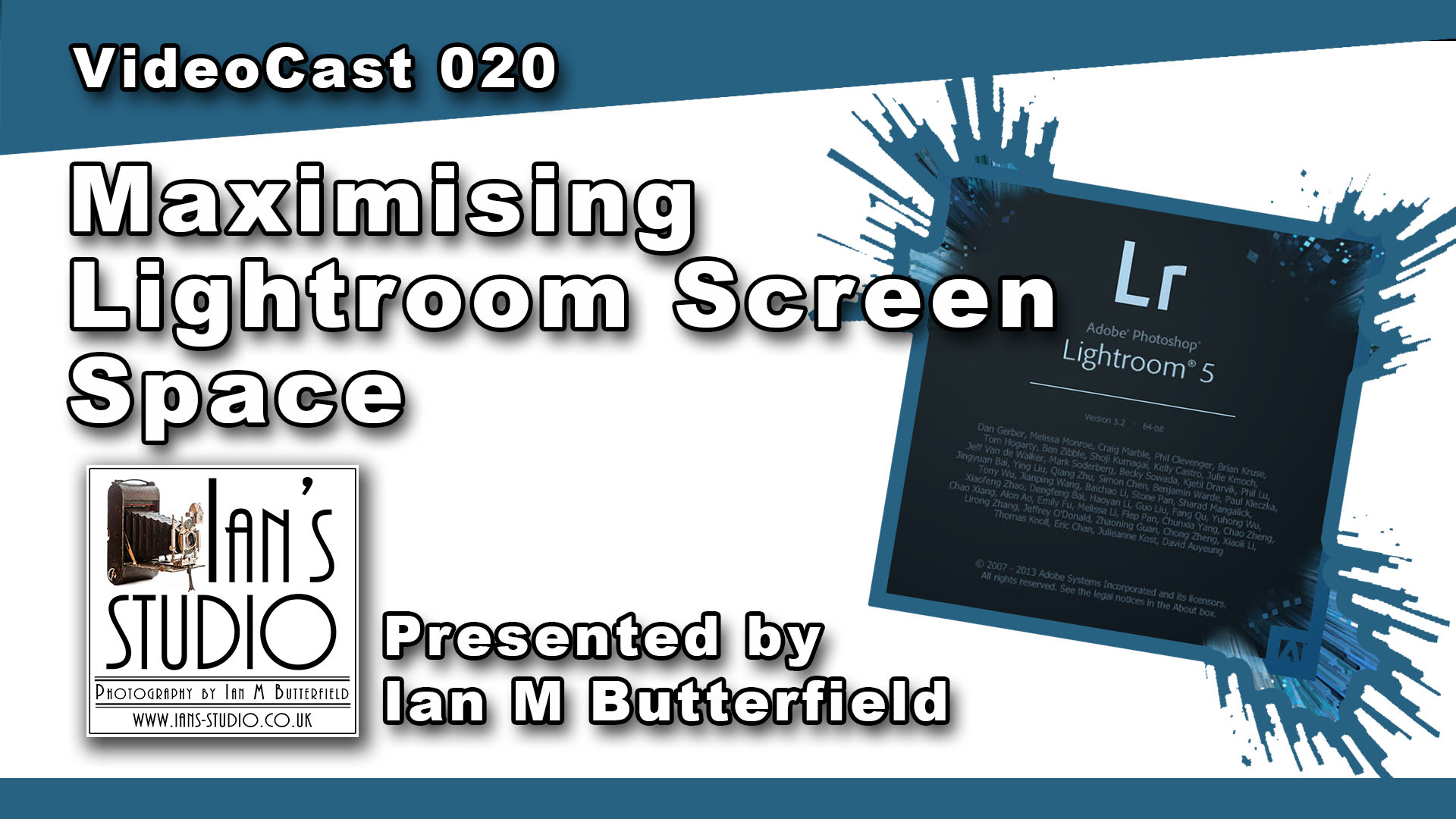 VideoCast 020: Maximising Lightroom Screen Space