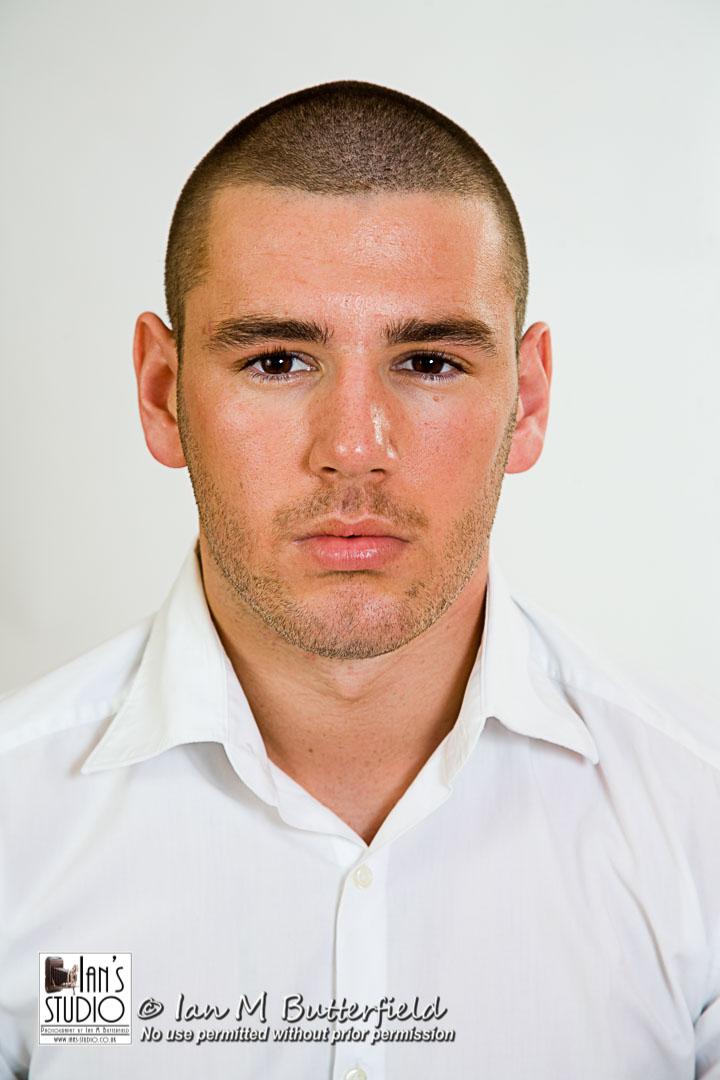 SALE REFUND 21 Nov 2017: Passport style photo of young white man