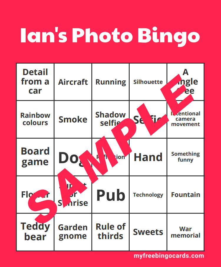 BLOG 19 DEC 2020 – Ian's Photo Bingo Challenge