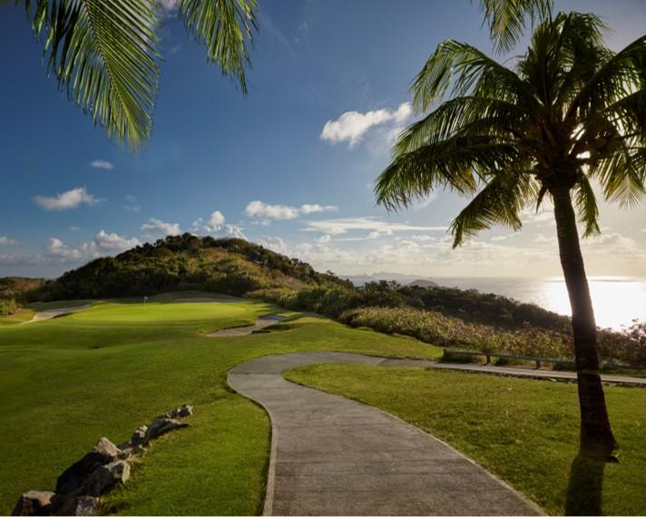 Golf course at Mandarin Oriental, Canouan