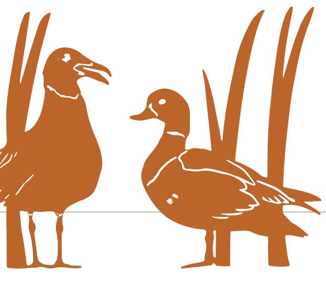 Vogelsilhouetten van cortenstaal