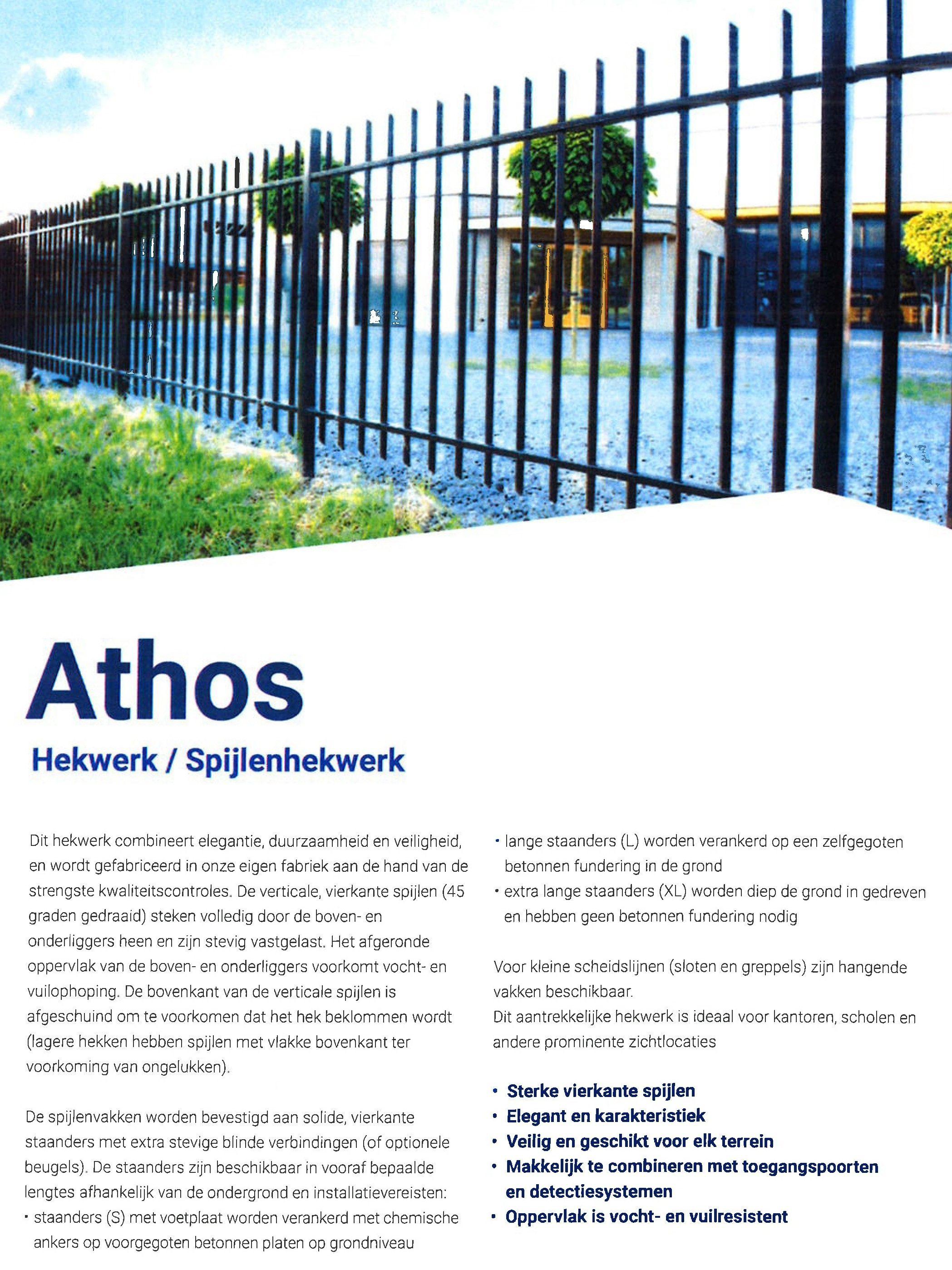 folder Athos hekwerken